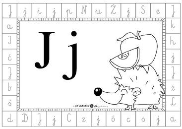 Alfabet Dookoła Litera J Printotekapl