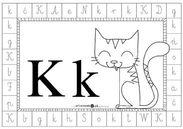 Alfabet Dookoła Litera K Printotekapl