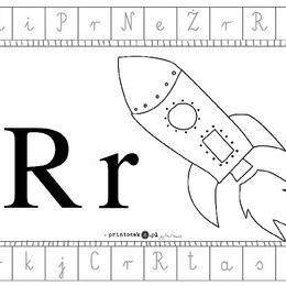 Alfabet Dookoła Litera R Printotekapl