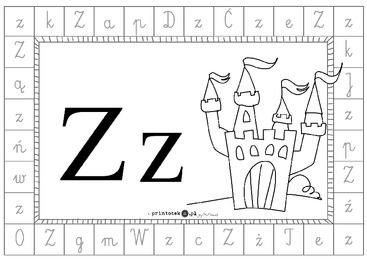 Alfabet Dookoła Litera Z Printotekapl