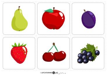 Owoce - karty obrazkowe - Printoteka.pl