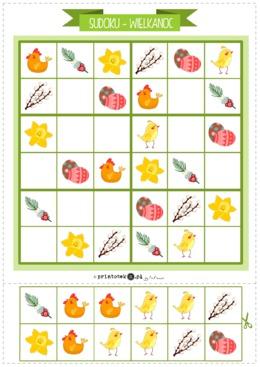 Wielkanocne sudoku. Wariant 1 - Printoteka.pl
