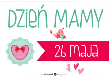 Dzień Matki Plakat Printotekapl