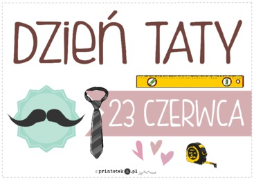 Dzień Taty - plakat - Printoteka.pl