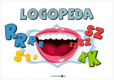 Logopedia - tabliczka - Printoteka.pl