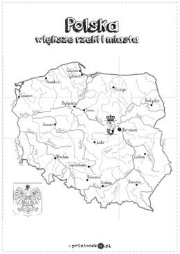 Mapa Polski Xxl Wieksze Miasta I Rzeki 12 Czesci Printoteka Pl