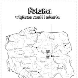 Mapa Polski Xxl Większe Miasta I Rzeki 12 Części Printotekapl