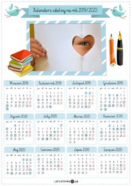Kalendarz Szkolny Na Rok 2019 2020 Printoteka Pl