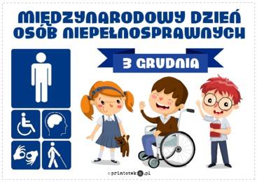 Międzynarodowy Dzień Osób Niepełnosprawnych – plakat - Printoteka.pl