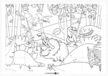 Dinozaury Kolorowanka Xxl Printoteka Pl