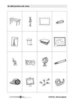 Przybory Szkolne School Objects Memory Game 2 Printoteka Pl