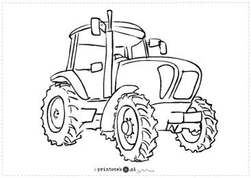 Kolorowanka Traktor Printoteka Pl